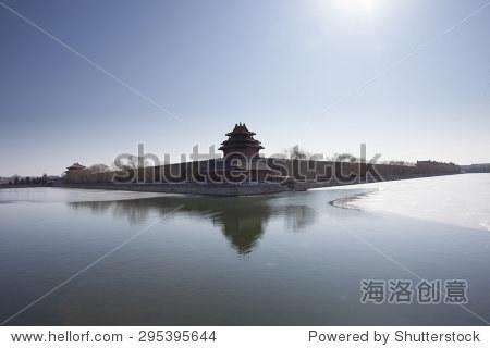 Corner turret of the Forbidden City,landmark of Beijing City