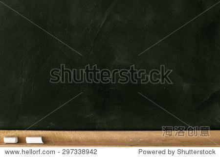 Blank Green Chalkboard./ Blank Green Chalkboard