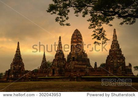 Chaiwatthanaram Temple ayutthaya  Thailand.