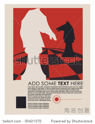 vintage chess ad layout