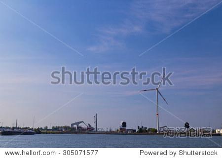 Drawbridges in Port of Antwerp  Belgium