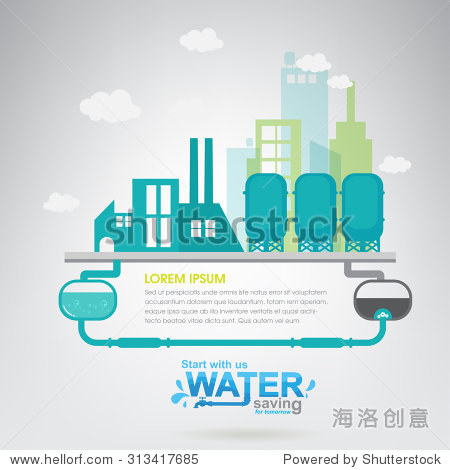 Save The Water Vector Ecology Concept