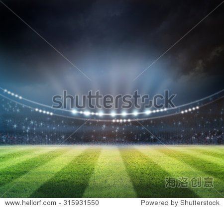 lights at night and stadium
