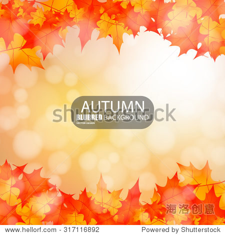 Autumn abstract blurred background