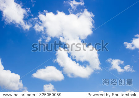 Natural blue sky with cloud closeup or background.