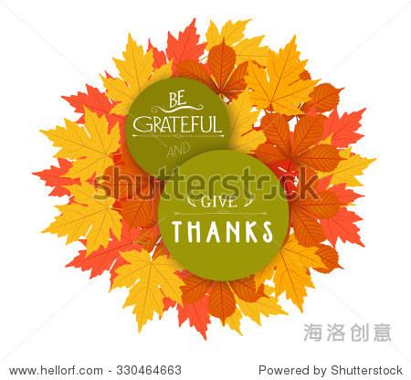 Happy Thanksgiving. Autumn Design