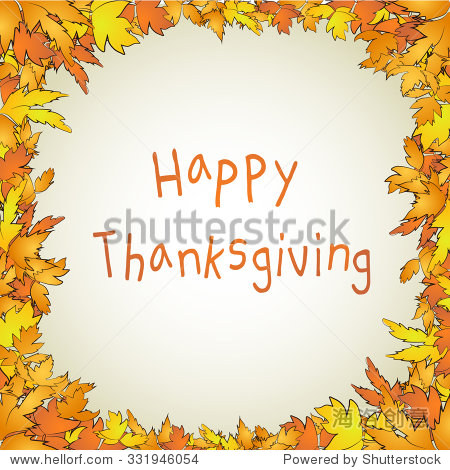 Thanksgiving maple background decoration. Vector illustration
