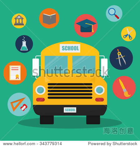 Back to school graphic design icons  vector illustration eps10