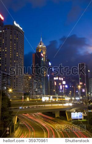 Magic hour of Causeway Bay, Hong Kong