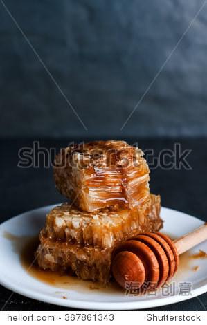 juicy fresh and useful honeycomb   Fresh honey with honeycomb