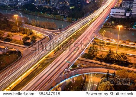 Hangzhou city night scene