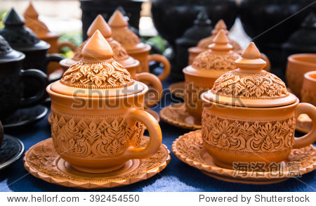 coffee cup earthenware Thailand