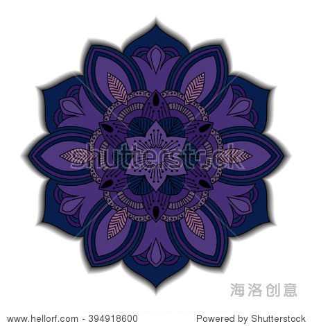 Mandala. Round ornament floral pattern. Decorative element. Flower pattern isolated on white background. Vector illustration
