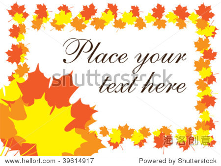 bright fall leaves text border