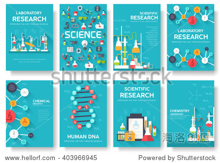 Science information cards set. laboratory template of flyear  magazines  posters  book cover  banners. Chemistry infographic concept background. Layout illustrations template pages with typography