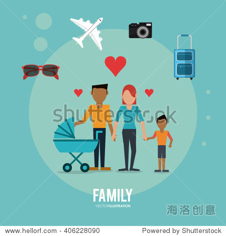 Graphic of Family design   vector illustration