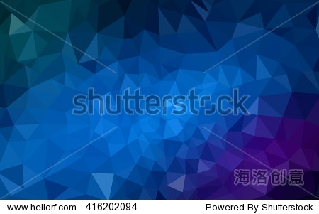 Multicolor dark pink  blue polygonal illustration  which consist of triangles. Geometric background in Origami style with gradient. Triangular design for your business.