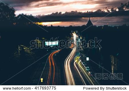 London - Long Exposure - City - Trails - Light Painting - Night - Summer - Lights - Orange