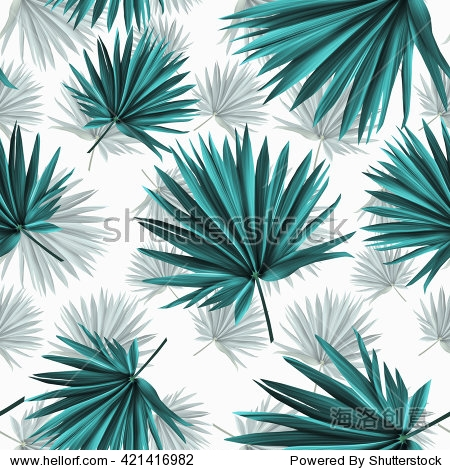 Tropical palm leaves  jungle leaves seamless floral pattern background