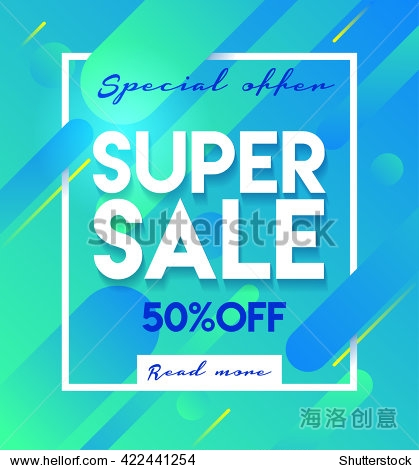 Super sale banner. Sale and discounts. Flat design banner poster flyer template