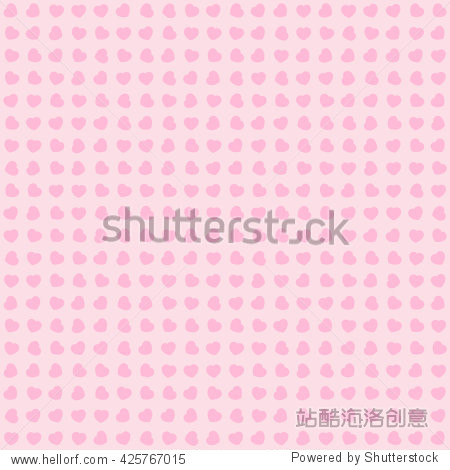 Seamless background of pink hearts. Repeating vector texture for Gift wrap / Print on a bag / Fashion / Wedding / Valentine's Day