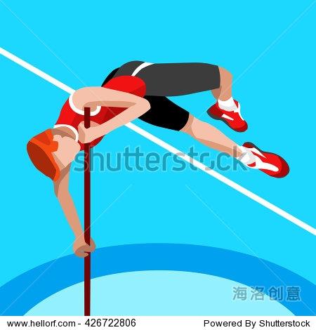 Athletics Pole Vault Summer Games Icon Set. 3D Isometric Athlete. Sport Championship International Athletics Competition. Sport Infographic Pole Vault Athletics High Jump events Illustration.