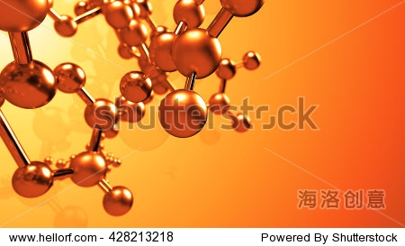 abstract 3d rendering of metal molecule structure