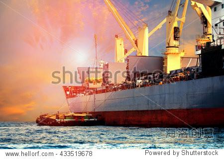 ship loading at port
