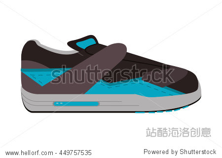 flat design sneaker without laces icon vector illustration