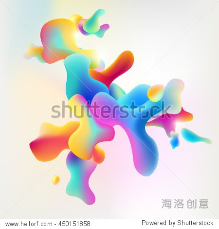 Abstract art modern colorful background