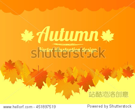 Autumn background with space for text. Poster  banner. Vector illustration.