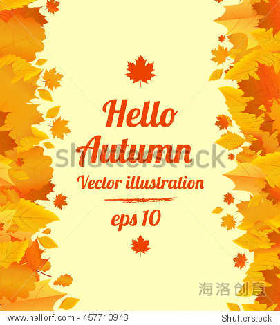 Autumn vector poster with space for your text.