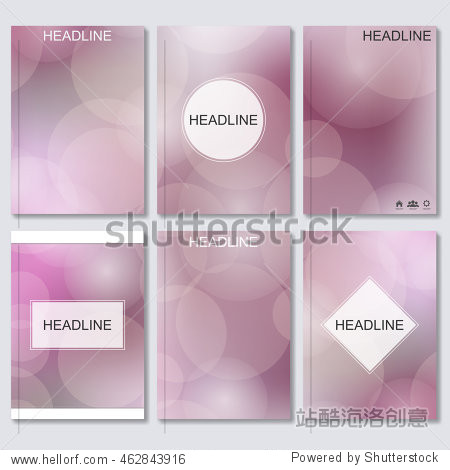 Modern vector templates for brochure  flyer  cover magazine or report in A4 size  Abstract blurred background..