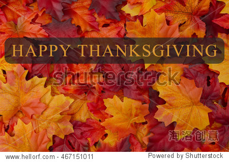 Happy Thanksgiving Greeting  Fall Leaves Background and text Happy Thanksgiving  3D Illustration