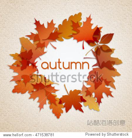 Autumn illustration background