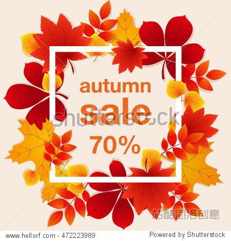 Autumn sale 70% Banner