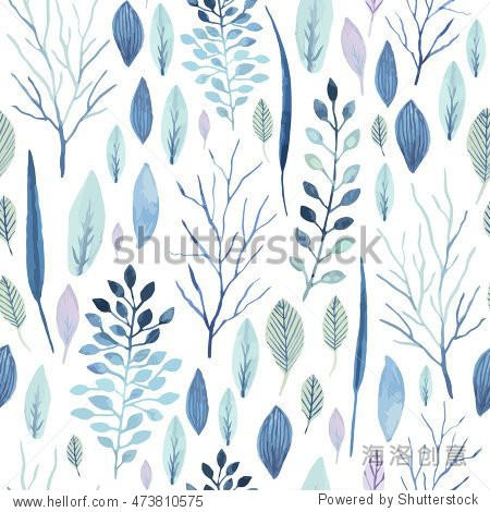 Vector cute watercolor seamless flower pattern. Big set of watercolor floral elements. Can be used for cards  invitations  save the date cards and many more.