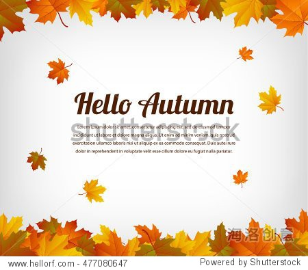 Background with maple autumn leaves. Vector illustration