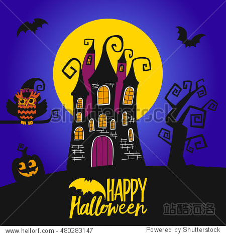 Happy halloween day vector illustration Trick or treat Halloween party