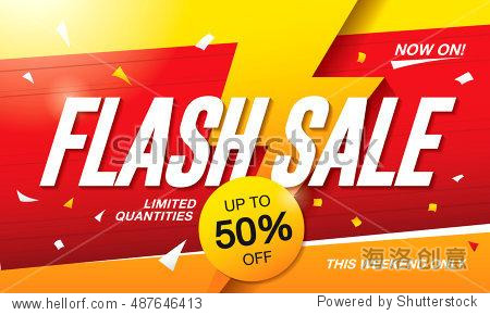 Flash sale banner template design