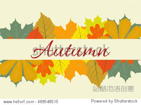 Autumn Leaves Set  Illustration  october colorful