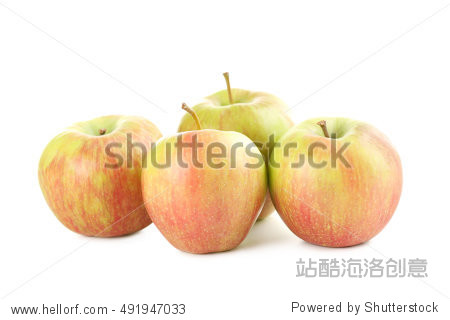 Sweet apples isolated on a white background