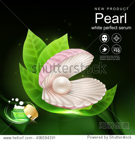 Collagen and Pearl Serum Background Product Cosmetic for Skin Concept.