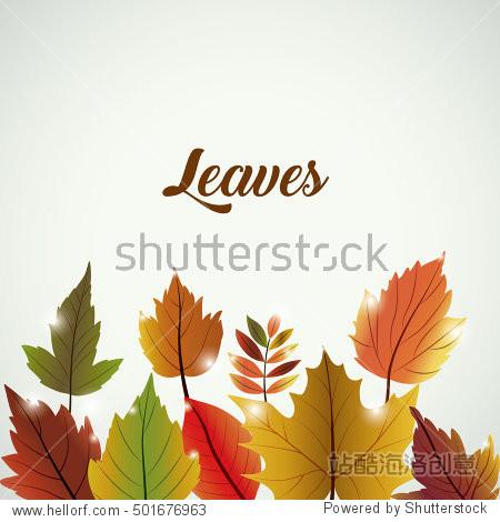 Leaves of autumn season design