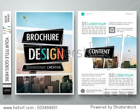 book jacket template indesign - brochure design template vector abstract square cover
