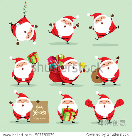 Collection of Christmas Santa Claus - set 2