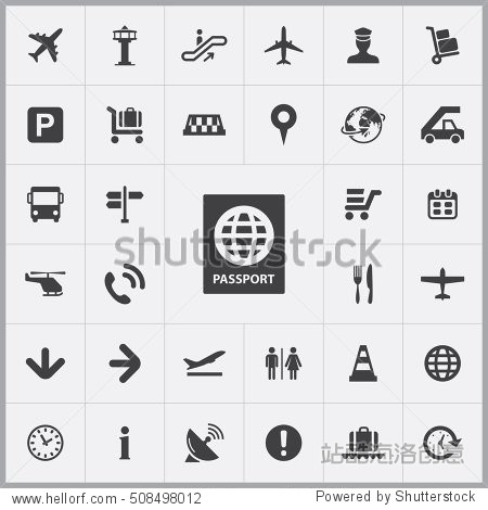 passport icon. airport icons universal set for web and mobile
