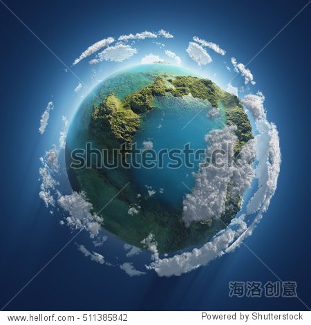 Earth Day  small planet in the space  3d illustration