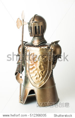 Knight  a tin soldier  toy