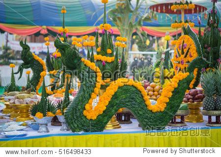Wat Srapleng Temple in Thailand buddha statue